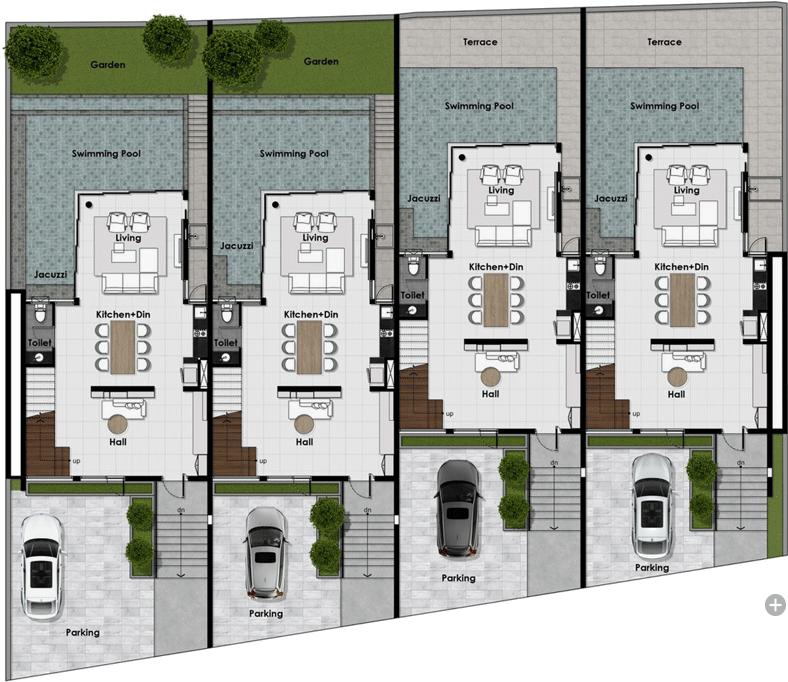 Vertica Pool Villa by Villa Bla Bla - First Floor Plan