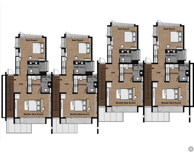 Vertica Pool Villa by Villa Bla Bla - Second Floor Plan