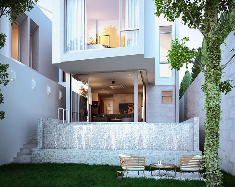 Vertica Pool Villa by Villa Bla Bla, Pool Villas, Phuket - Backyard